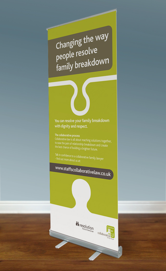 Collaborative Law pull-up banner