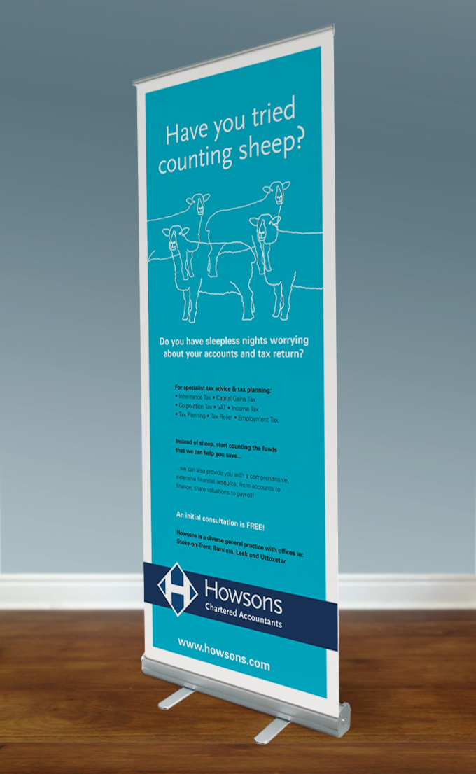 Howsons 1 pull-up banner