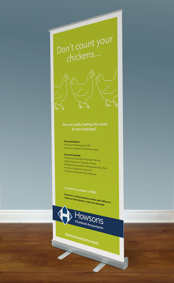Howsons 2 pull-up banner