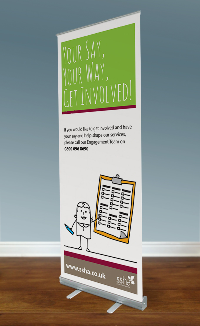 SSHA tenant pull-up banner